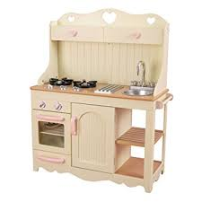 cuisine kidcraft kidkraft 53151 prairie kitchen wooden play kitchen with