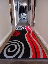 Black And Red Area Rugs by Red Area Rug Affordable Roses Rug High Pile Felt Area Rug In Red