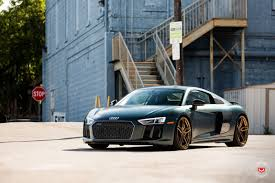Audi R8 Green - gallery 2017 audi r8 v10 plus on vossen gold forged wheels