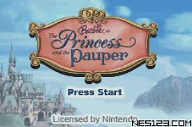 barbie u2013 princess pauper gba games