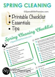 spring cleaning tips printable checklist u0026 more
