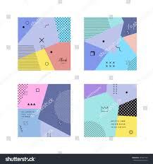 abstract trendy templates different geometric shapes stock vector