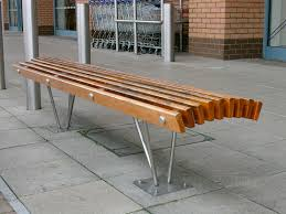 public bench contemporary wooden metal louvre factory