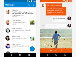 messenger apps for android messenger android lollipop material design interaction design
