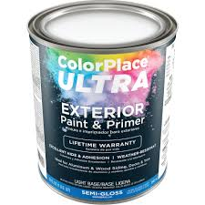 color place ultra semi gloss exterior light base paint and primer