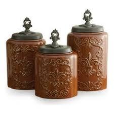 fleur de lis kitchen canisters antique copper fleur de lis kitchen canister set kitchen