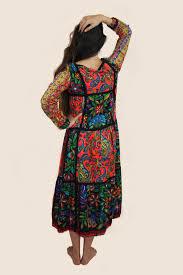 1970 u0027s designer bill atkinson paisley long sleeve maxi dress