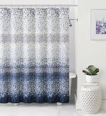 Silver And White Shower Curtain Navy Blue And White Shower Curtain Mainstays Fretwork Shower