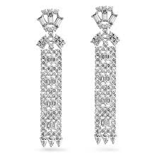 bridal chandelier earrings gatsby inspired cz deco bridal chandelier earrings