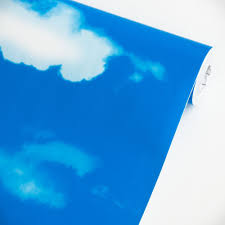blue blue sky vinyl self adhesive wallpaper prepasted wall