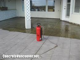 Cement Patio Sealer Stamped Concrete Patio Deck In Tsawwassen Bc Canada