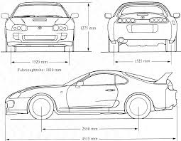 toyota supra drawing 1998 supra stock smcars net car blueprints forum