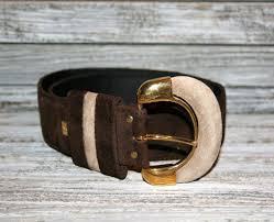 light brown suede belt 80s womens belts beige dark brown suede belt gold by magpieandotis