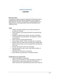 Sales Associate Duties Resume Cashier Job Description For Resume 2016 Free Business Template