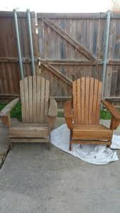 Extra Large Adirondack Chairs Custom Extra Large Adirondack Chairs Stained In Driftwood Gray