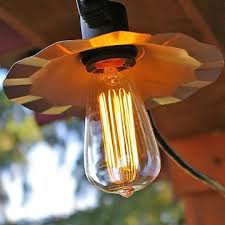 Edison Bulb String Lights Cafe String Lights Vintage Edison Bulbs 35 Ft Black Wire Silver