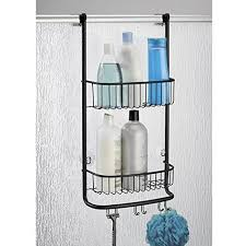 mdesign over the door bathroom shower caddy for shampoo
