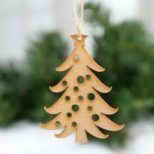 unfinished wood laser cut tree ornaments wood cutouts