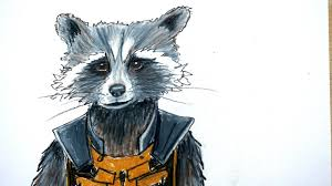 drawn galaxy rocket raccoon pencil and in color drawn galaxy
