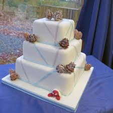 winter solstice winter wedding cake with a sprarkly theme and