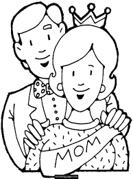 mom dad and baby coloring pages