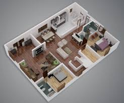 Two Bedroom House Plans by 25 More 2 Bedroom 3d Floor Plans