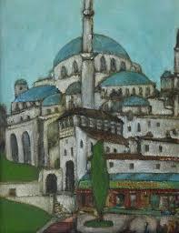 zylstra china1800 fruit bouquets david zylstra artwork blue mosque original painting