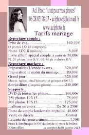tarif photographe mariage acl photo nos tarifs acl photo photographe