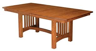 mission dining room table mission style trestle dining table