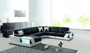 canap forme u avec led forme en u coin salon canapé en cuir de conception photo