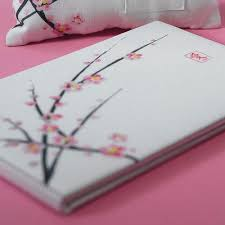 guest book and pen cherry blossom guest book and pen set