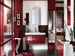 bathroom chic red bathrooms decorating ideas contemporary