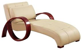 Chaise Lounge Chairs Indoor Al Cappuccino Leather Lounge Chair Contemporary Indoor Chaise