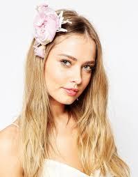 hair corsage lyst asos wedding bells hair corsage brooch in pink