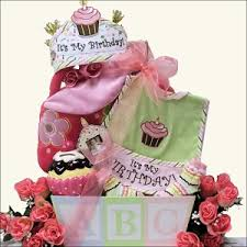 birthday gift basket baby s birthday girl baby birthday gift basket at gift