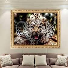 30x40cm 5d diamond painting leopard embroidery cross stitch home