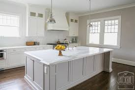 white kitchen with island white kitchen with grey island transitional kitchen