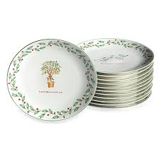 lenox twelve days of dessert plates set of 12