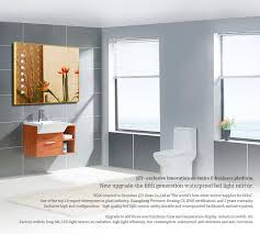 hollywood style modern bathroom mirror with lights built in at bq