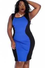 blue bodycon dress royal blue black sleeveless party bodycon dress plus size