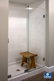 Frameless Slider Shower Doors Frameless By Pass Sliding Shower Doors Oasis Shower Doors