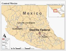 Map Of Central Mexico by The Notorious Gis January 2015