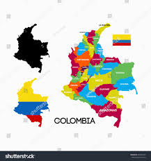 colombia map vector colombia map city name flag designs stock vector 685985449