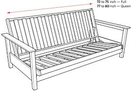 Dimensions Of Loveseat What Are The Sizes Of Futons U2013 Futonland Help Center