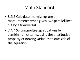 g 5 calculate the missing angle measurements when given two