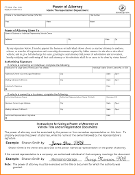 Power Attorney Forms by 7 Power Of Attorney Form Vehicle Attorney Letterheads