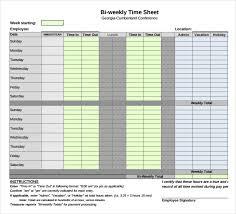 Bi Weekly Timesheet Template Excel 12 Weekly Timesheet Templates Free Sle Exle Format
