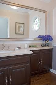 phenomenal large framed bathroom mirrors decorating ideas images