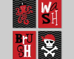 Pirate Bathroom Decor by Ocean Bathroom Wall Art Canvas Or Prints Fish Nautical Theme