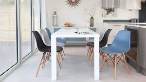 Oak Chairs Dining Room Oak Dining Table And Eames Chairs Verona 150cm Solid Oak Dining